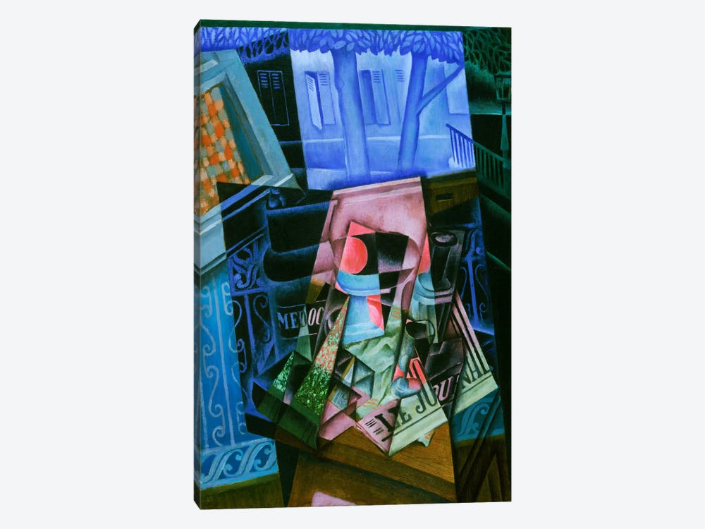 Still Life before an Open Window, Place Ravignan by Juan Gris 1-piece Art Print