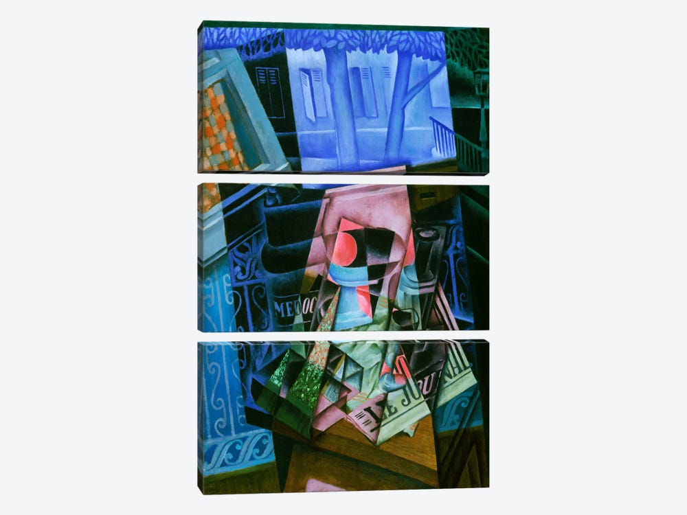 Still Life before an Open Window, Place Ravignan by Juan Gris 3-piece Canvas Art Print