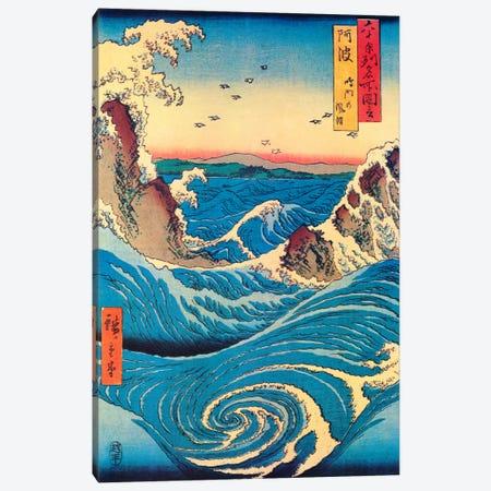Awa, Naruto no fuha (Awa Province: Naruto Whirlpools) Canvas Print #1407} by Utagawa Hiroshige Canvas Print