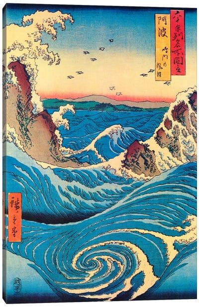 Awa, Naruto no fuha (Awa Province: Naruto Whirlpools) Canvas Art Print