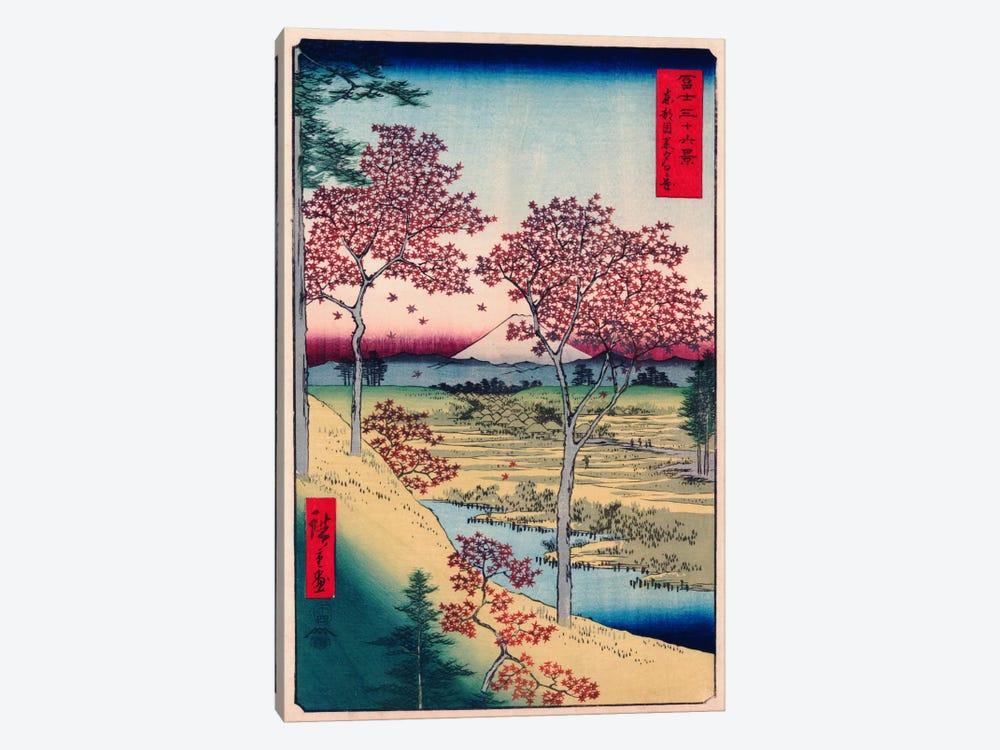 Toto Meguro Yuhigaoka (Yuhigaoka at Meguro in Edo) by Utagawa Hiroshige 1-piece Canvas Print
