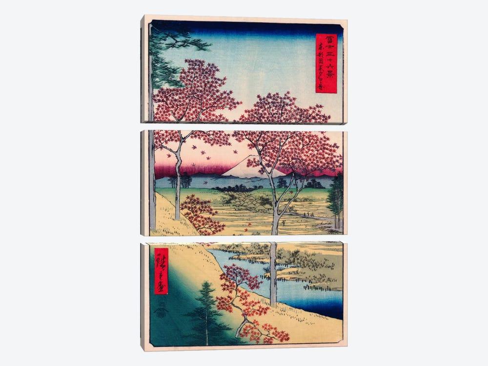 Toto Meguro Yuhigaoka (Yuhigaoka at Meguro in Edo) by Utagawa Hiroshige 3-piece Canvas Art Print