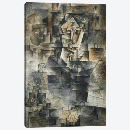 Portrait of Daniel-Henry Kahnweiler Canvas Print #14094} by Pablo Picasso Canvas Art Print