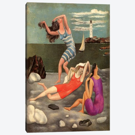 The Bathers Canvas Print #14095} by Pablo Picasso Canvas Art Print