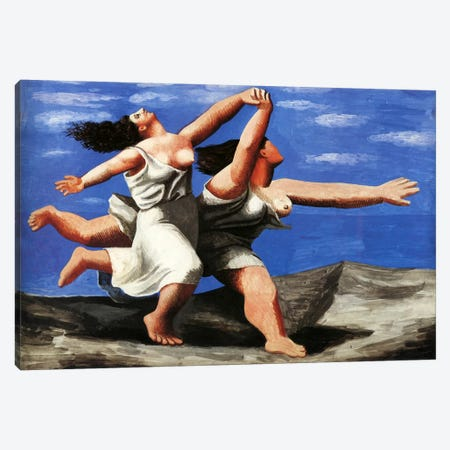 Two Women Running on the Beach Canvas Print #14096} by Pablo Picasso Art Print