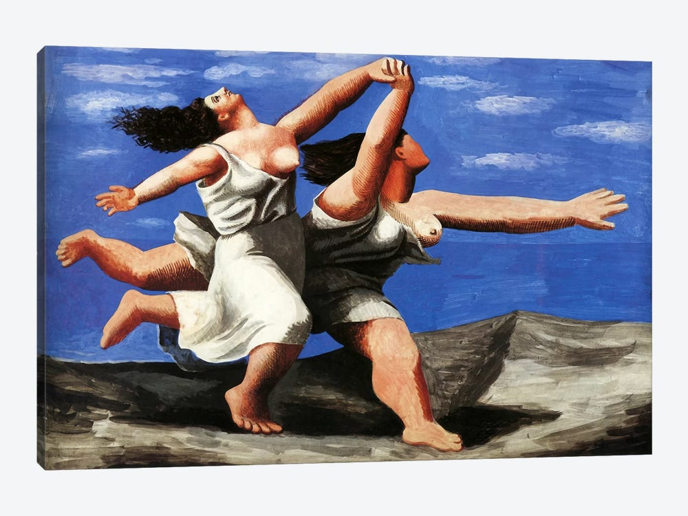 Two Women Running on the Beach by Pablo Picasso 1-piece Canvas Art Print