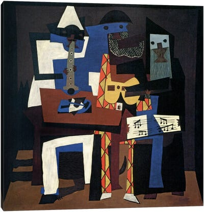 Three Musicians by Pablo Picasso Canvas Artwork
