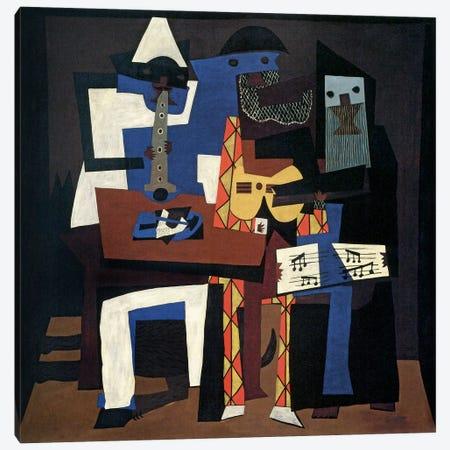 Three Musicians Canvas Print #14100} by Pablo Picasso Canvas Artwork