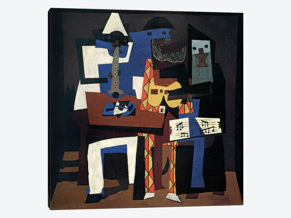 Three Musicians by Pablo Picasso 1-piece Canvas Print