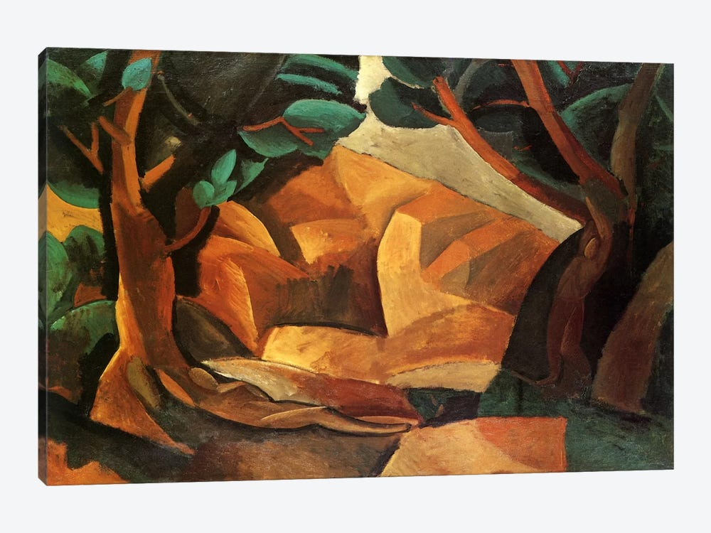 Landscape with Two Figures 1-piece Canvas Wall Art