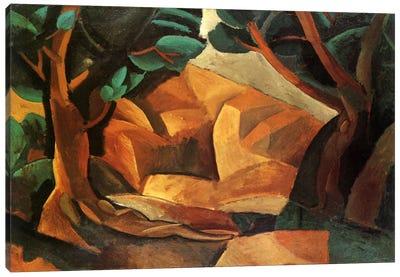 Landscape with Two Figures Canvas Art Print