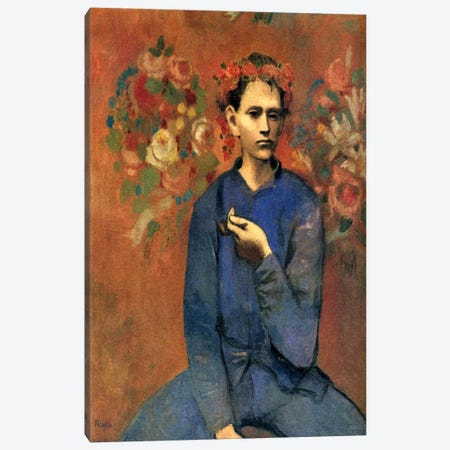 A Boy with Pipe Canvas Print #14106} by Pablo Picasso Art Print