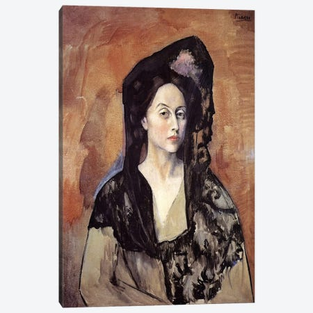 Portrait of Madame Canals Canvas Print #14107} by Pablo Picasso Canvas Print