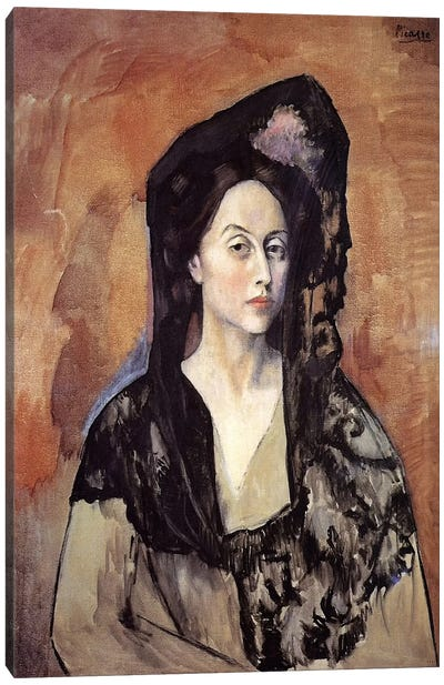 Portrait of Madame Canals by Pablo Picasso Canvas Print
