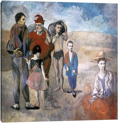 Family of Saltimbanques by Pablo Picasso Canvas Wall Art