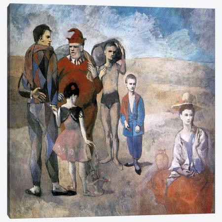Family of Saltimbanques Canvas Print #14108} by Pablo Picasso Canvas Wall Art