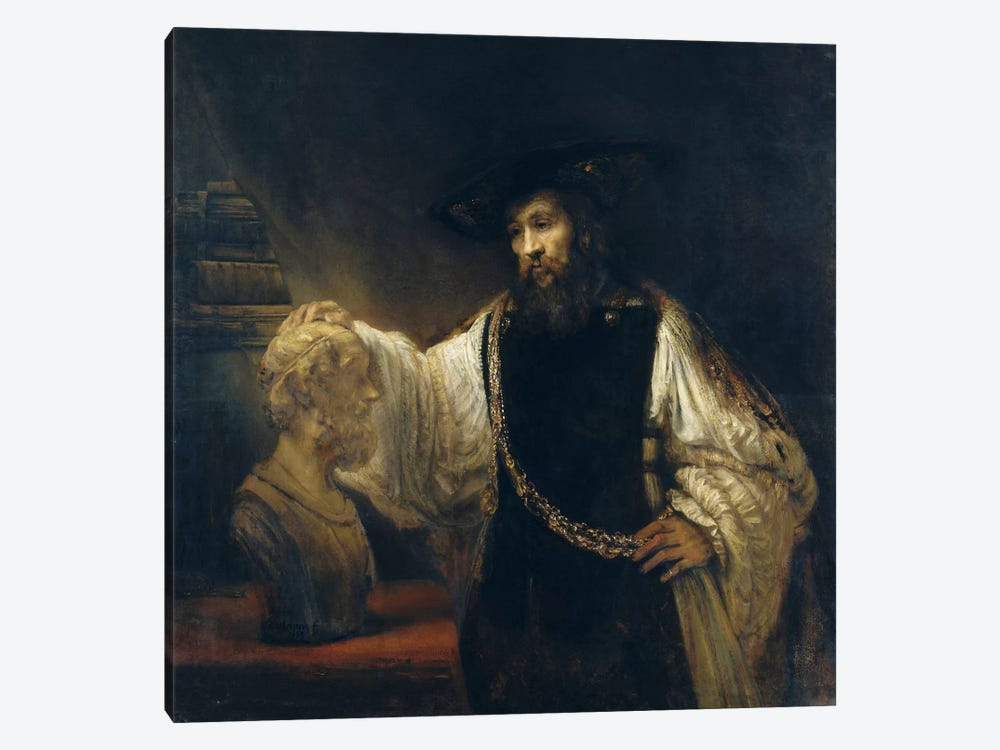 Aristotle Comtemplating the Bust of Homer or Aristotle with a Bust of Homer by Rembrandt van Rijn 1-piece Art Print