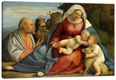Madonna and Child, Little John the Baptist, Peter and Anthony the Hermit Canvas Print #14112