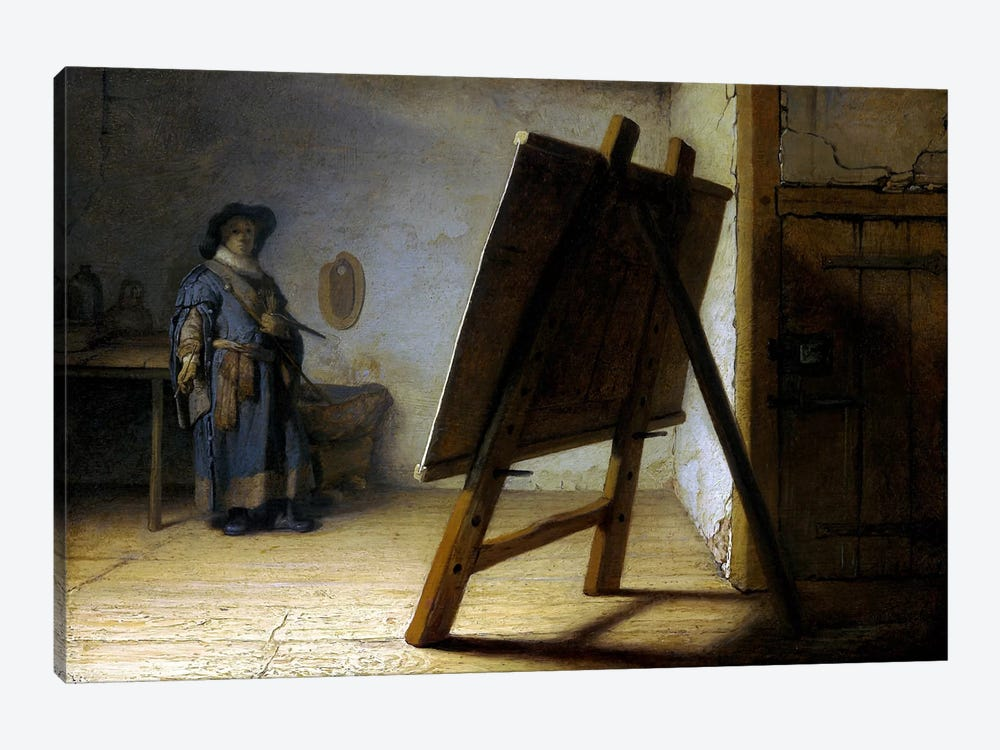 The Artist in His Studio by Rembrandt van Rijn 1-piece Art Print
