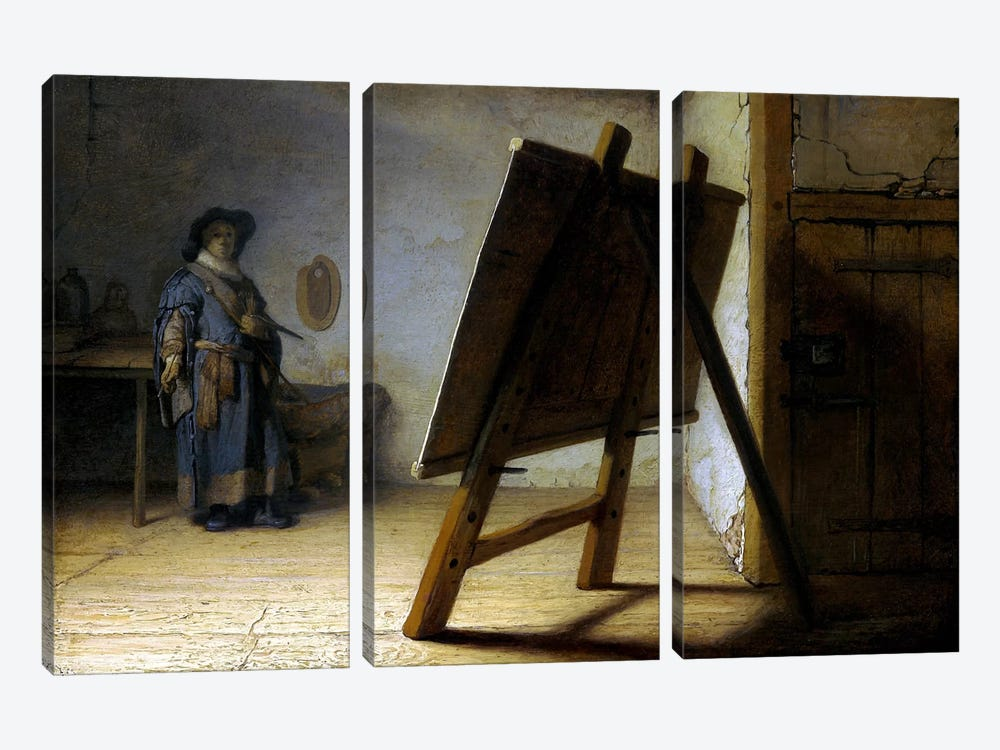 The Artist in His Studio by Rembrandt van Rijn 3-piece Art Print