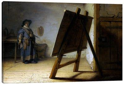 The Artist in His Studio Canvas Art Print