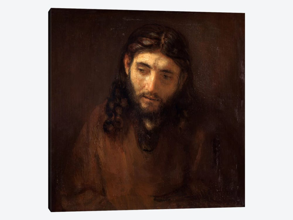Head of Christ by Rembrandt van Rijn 1-piece Canvas Artwork