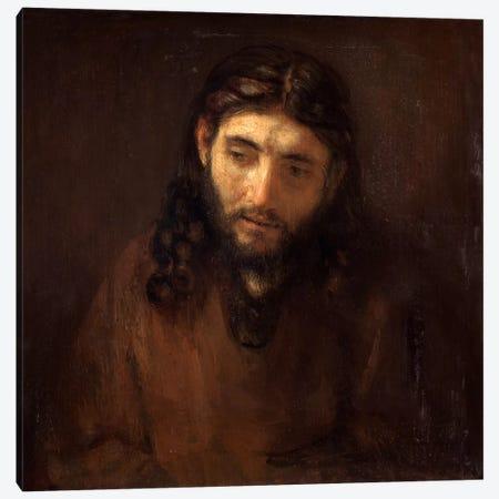 Head of Christ Canvas Print #14125} by Rembrandt van Rijn Art Print