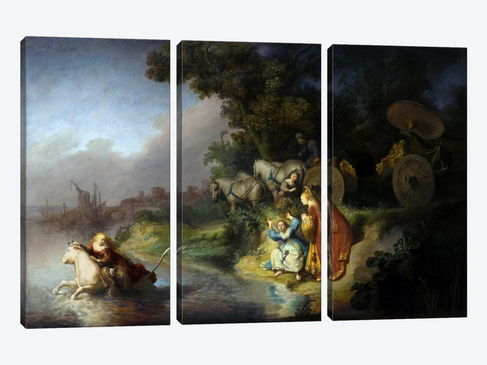The Abduction of Europa by Rembrandt van Rijn 3-piece Canvas Print