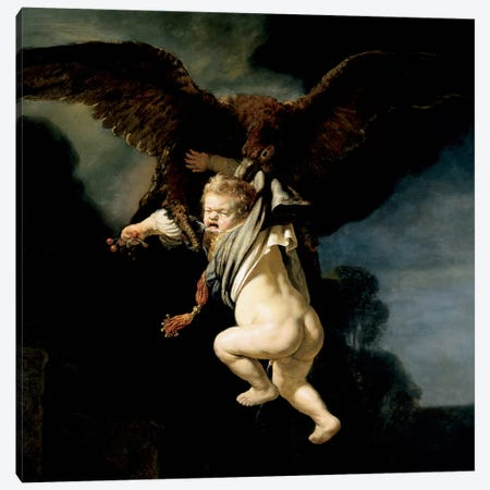 The Abduction of Ganymede Canvas Print #14136} by Rembrandt van Rijn Canvas Art