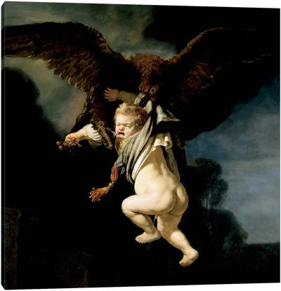 The Abduction of Ganymede Canvas Art Print
