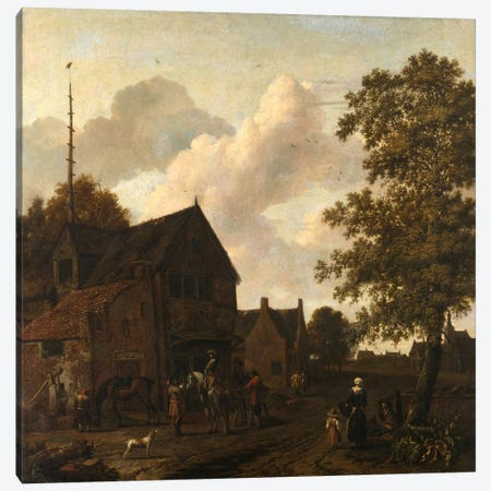 The Halting Place Canvas Print #14138} by Emanuel Murant Art Print