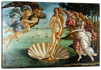 Birth of Venus by Sandro Botticelli Canvas Art Print