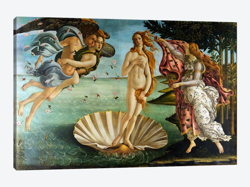 Birth of Venus by Sandro Botticelli 1-piece Canvas Print