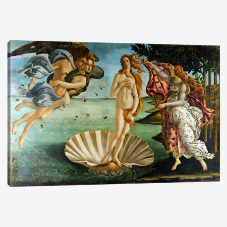Birth of Venus Canvas Print #1413} by Sandro Botticelli Canvas Art Print