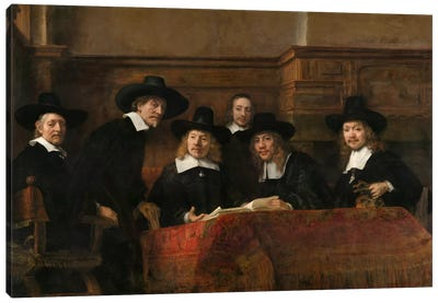 The Sampling Officials or Syndics of the Drapers' Guild Canvas Art Print