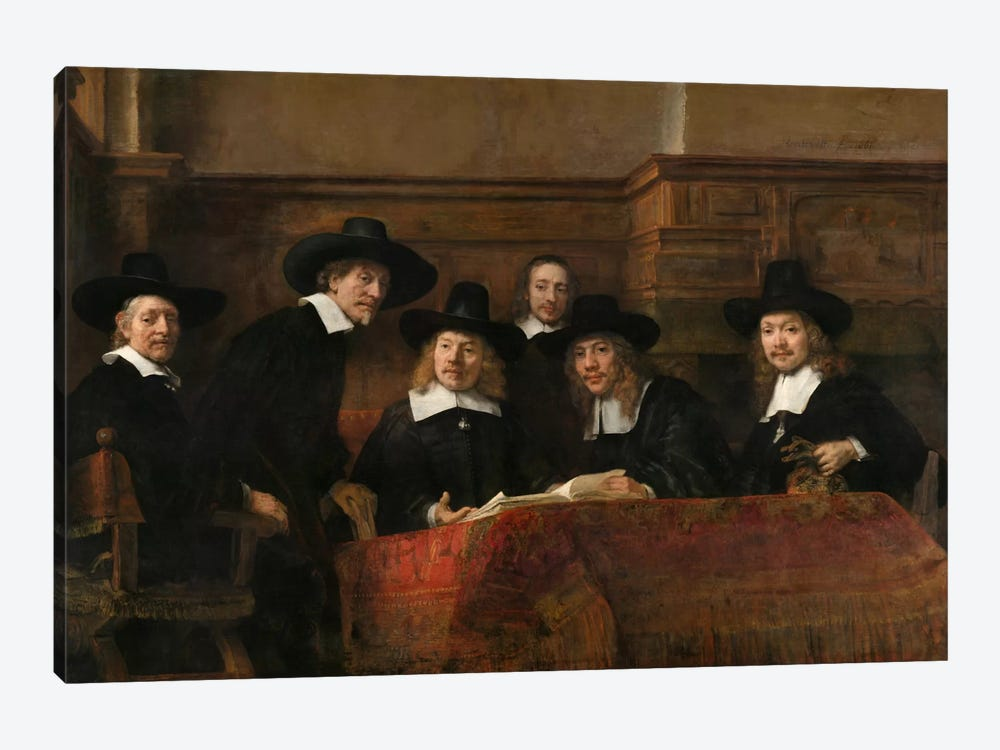 The Sampling Officials or Syndics of the Drapers' Guild by Rembrandt van Rijn 1-piece Art Print