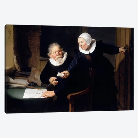 The Shipbuilder & his Wife Canvas Print #14141} by Rembrandt van Rijn Canvas Art