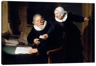 The Shipbuilder & his Wife Canvas Art Print