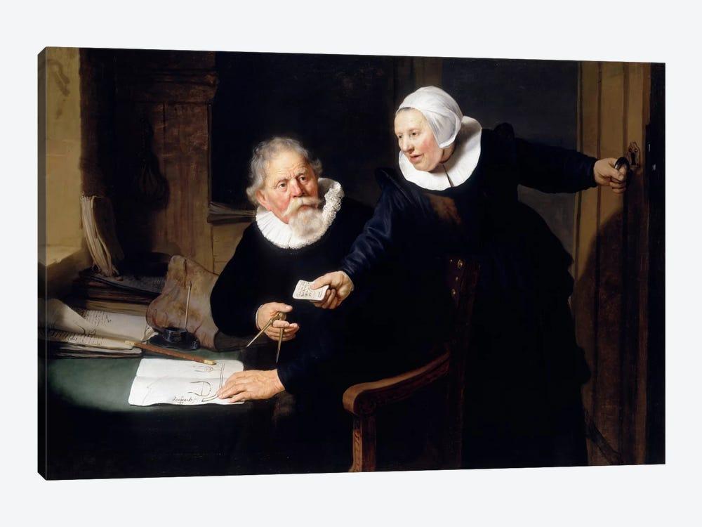 The Shipbuilder & his Wife by Rembrandt van Rijn 1-piece Canvas Art