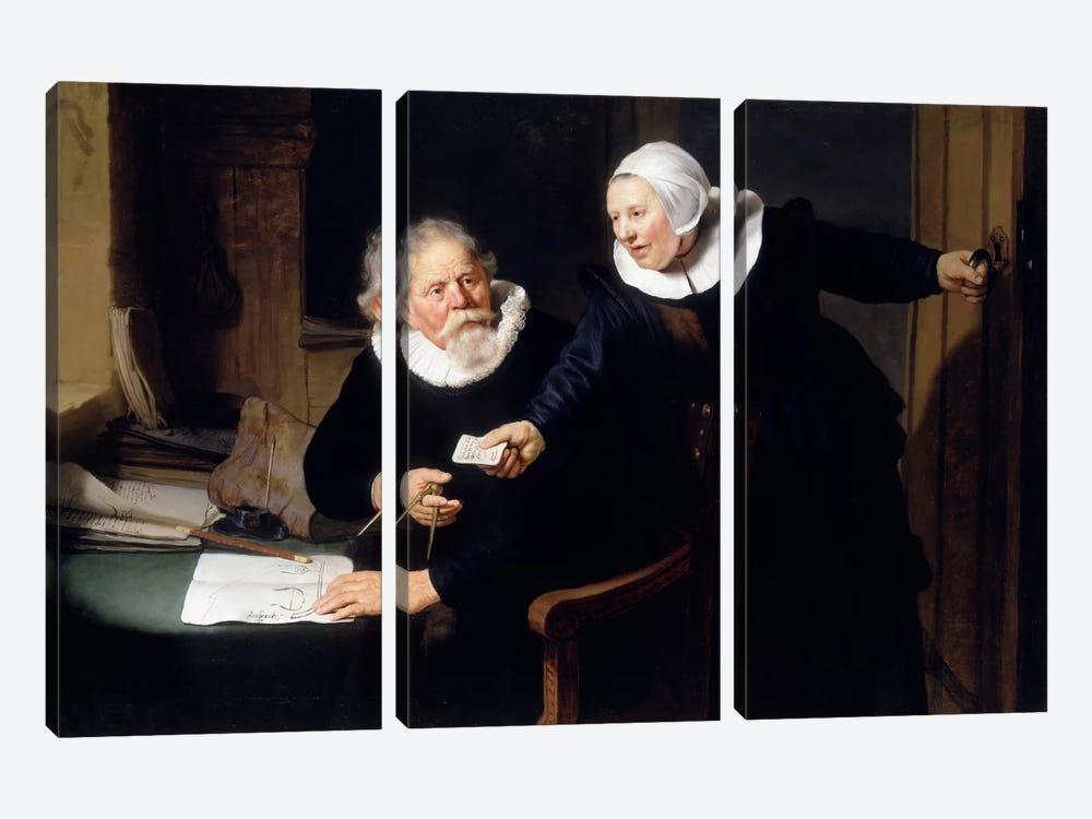 The Shipbuilder & his Wife by Rembrandt van Rijn 3-piece Canvas Art
