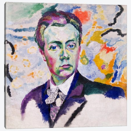Autoportrait Canvas Print #14144} by Robert Delaunay Canvas Art Print