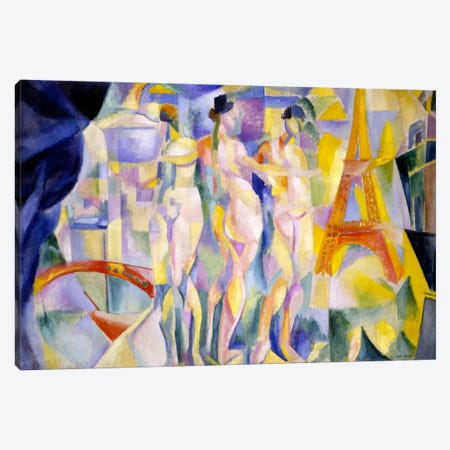 La ville de Paris Canvas Print #14146} by Robert Delaunay Art Print