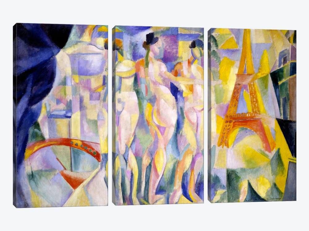 La ville de Paris by Robert Delaunay 3-piece Art Print