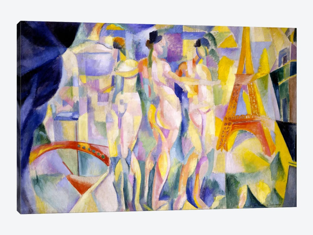 La ville de Paris by Robert Delaunay 1-piece Art Print