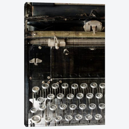 Vintage Typewriter Canvas Print #14156} by Symposium Design Canvas Wall Art
