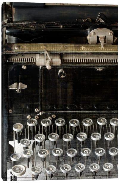 Vintage Typewriter Canvas Art Print