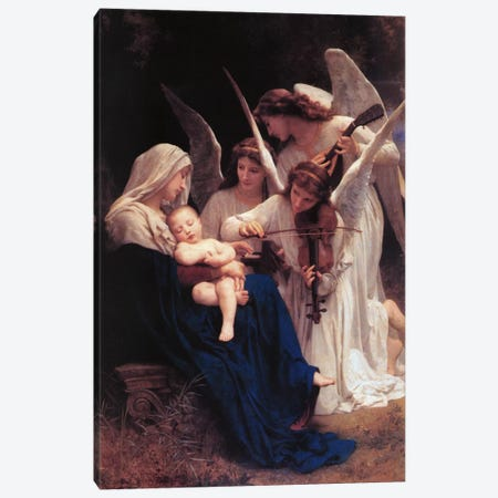 Song of The Angels Canvas Print #1415} by William-Adolphe Bouguereau Canvas Art