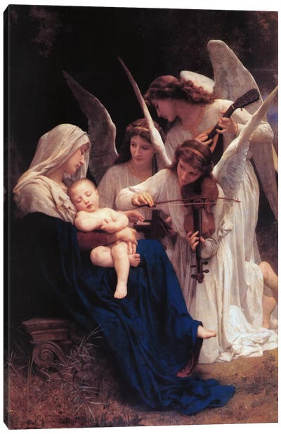 Song of The Angels by William-Adolphe Bouguereau Canvas Art
