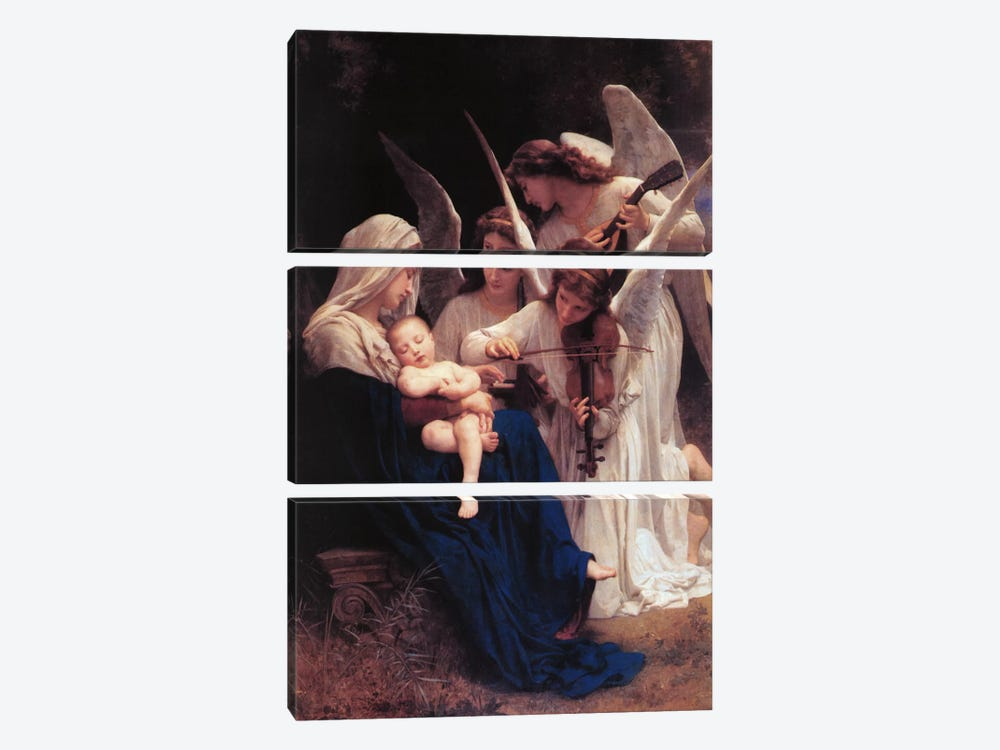 Song of The Angels by William-Adolphe Bouguereau 3-piece Art Print