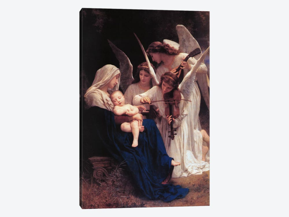 Song of The Angels by William-Adolphe Bouguereau 1-piece Canvas Art Print
